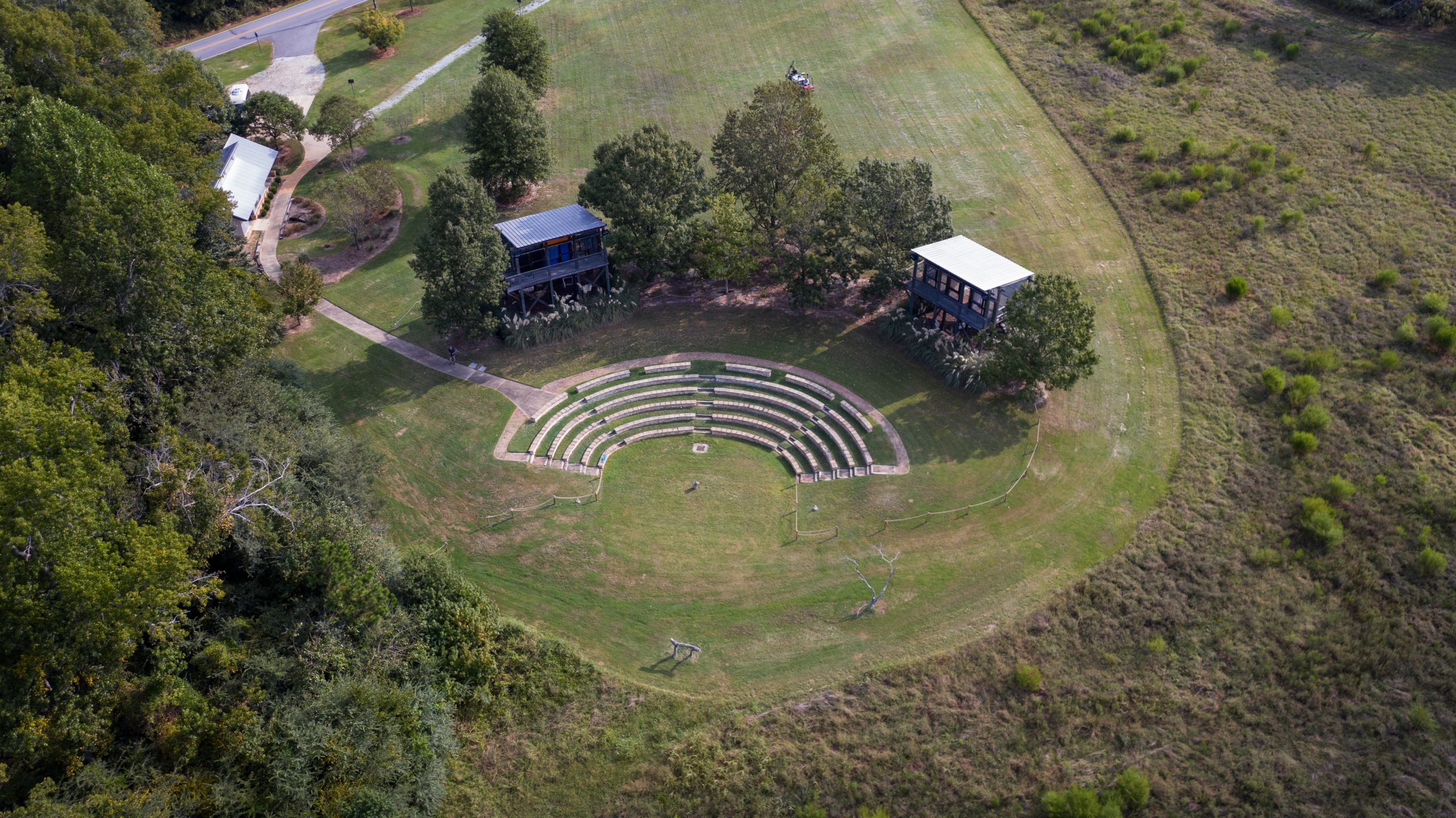 outdoor amphitheater view from sky